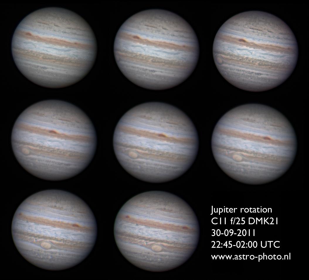 Jupiter rotation 30-09-2011
