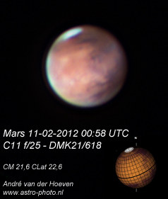 Mars 11-02-2012 with clouds