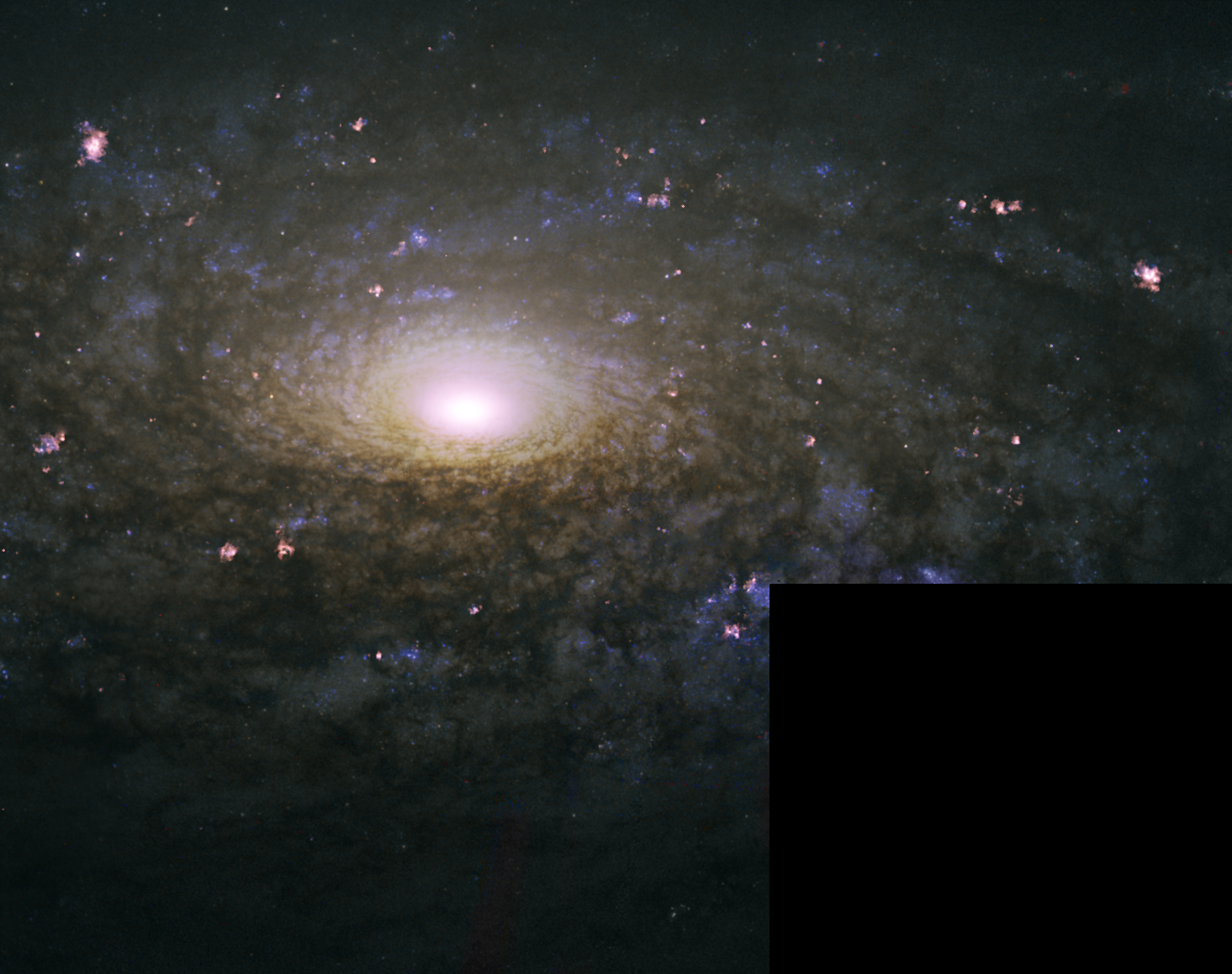 Hubble image of NGC3521 - my processing