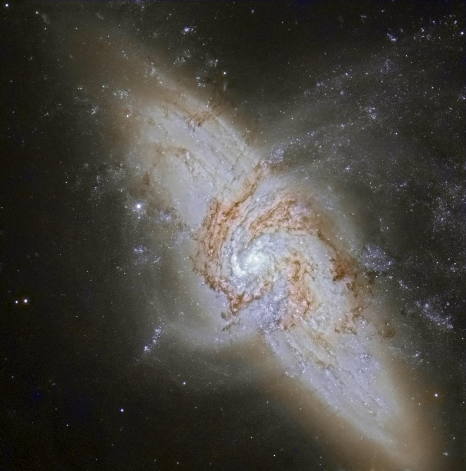 NGC 3314 HST