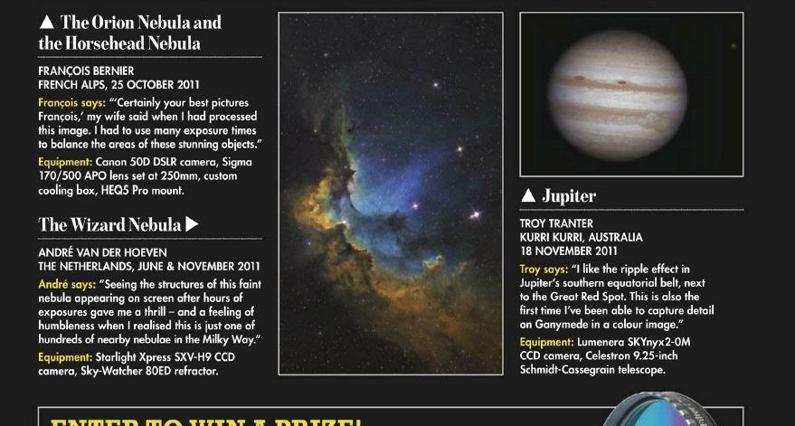 Wizard Nebula in Sky at night magazine