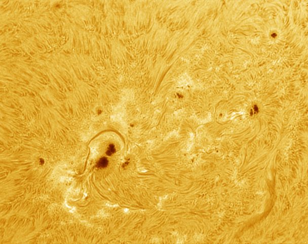 Sunspot 1520 about 5h before an 1.4 X-flare