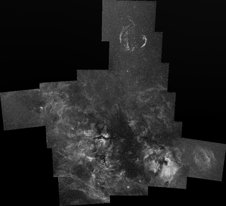 Panorama of the Cygnus area
