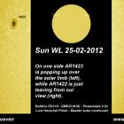 Sunspots 1422 and 1423 25-02-2012