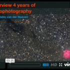 Overview four years of astrophotography