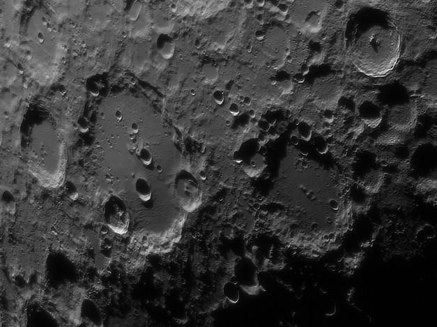 Clavius and Maginus craters