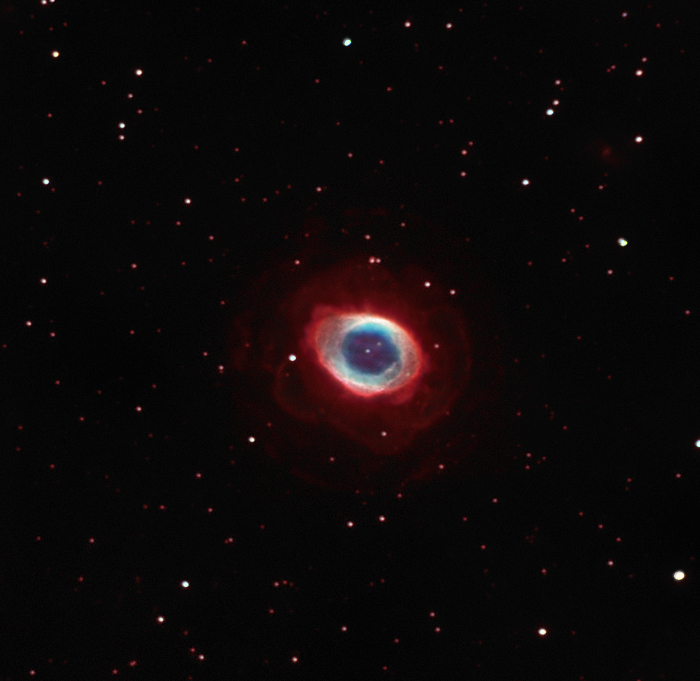 Messier 57 The ring nebula, search for the outer ring ...