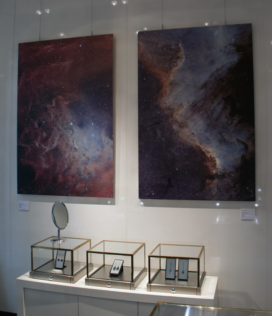Flames (left) and Gulf (right). Two of my images made into artwork by Roksana.