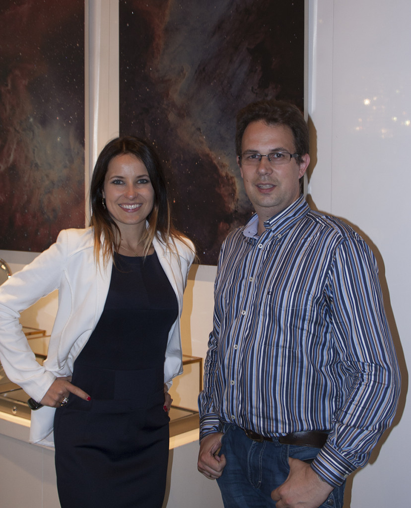 Roksana and me in front of two of the images at the exhibition.